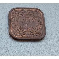Суринам 5 центов, 1988 6-11-26