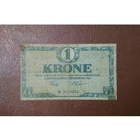 Дания / 1 krone / 1916 год / P-12 (b) / префикс B