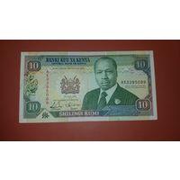 Банкнота 10 шиллингов Кения 1993