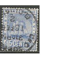 "Британская Гвиана. Парусник ""Sandbach"". 1889г. Mi#85."