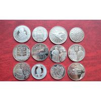 Беларусь 1 рубль 2013 год 12 монет Полный годовой набор.