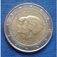 Нидерланды 2 евро 2013 коронация