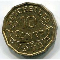 (C3) СЕЙШЕЛЫ - 10 ЦЕНТОВ 1972 UNC
