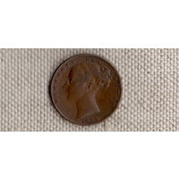 Великобритания 1 фартинг 1853/Виктория(Uss)