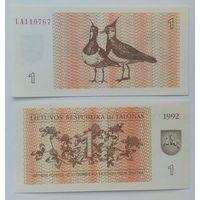 Литва 1 талон 1992 года UNC