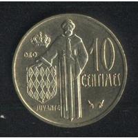 Монако 10 сантимов 1979 г. Сохран!!!