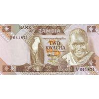 Замбия 2 квача образца 1980-1988 года UNC p24c