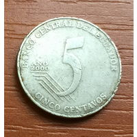 Эквадор, 5 сентаво 2000