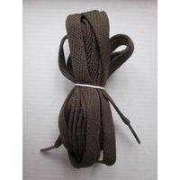 Шнурки коричневые 160 см.