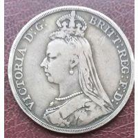 Великобритания 1 крона 1891.