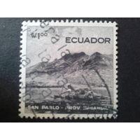 Эквадор 1955 горы, лодка