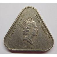 Острова Кука 2 доллара 1987 г