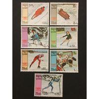 Зимние олимпийские игры в Канаде. Камбоджа,1987, серия 7 марок+блок