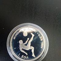 500 лир Сан Марино 1994 г Футбольный ЧМ
