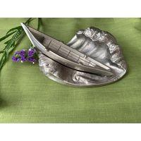 Пепельница СССР силумин (лодка на волнах)
