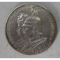Германия. 2 марки 1901 серебро. Пруссия.  V.04