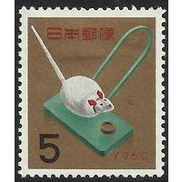 Новый год - год крысы, марка, праздники, Япония, 1959