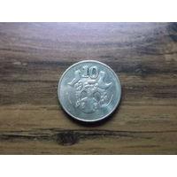 Кипр 10 центов 2002