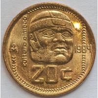 Мексика 20 сентавос 1984 года. Культура Ольмеки