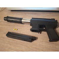 Игрушка, детский пистолет с пульками (автомат, узи)