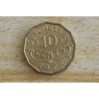Сейшелы 10 центов 1972  Нечастая!