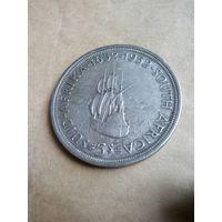 ЮАР .Торг.5 шиллингов, 1952 300 лет основанию Кейптауна.Большая .