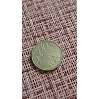 Белиз 10 цент 1977 г ( фауна , редкая , длиннохвостый отшельник , тир 14 тыс )