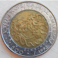 4. Сан Марино 500 лир 1992 год