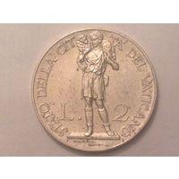 Ватикан 2 литы 1937г