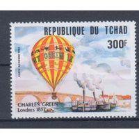 [2048] Чад 1983. Авиация.Воздушный шар.