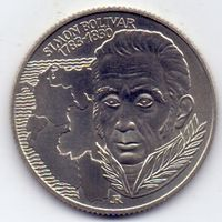 Венгрия, 100 форинтов 1983 года. Симон Боливар, к 200-летию со дня рождения.
