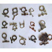 Замки с тоглом (фурнитура для бижутерии), остатки