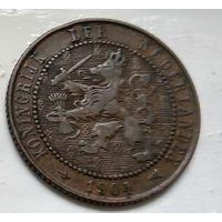 Нидерланды 2.5 цента, 1904 1-12-2