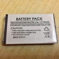 Новый аккумулятор 800 maH 3.7В. Sony Ericsson T226, T230, T220, T238, K700, K700c, K700i. Литий-ионный. Батарея АКБ. 800maH маЧ, 3.7 V В