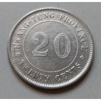 Китай 25 центов 1921 года