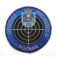 Шеврон подразделения превентивных мер г.Познань Республики Польша(распродажа коллекции)
