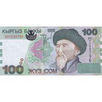 Киргизия 100 сом 2002 (UNC)