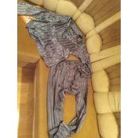 Пижама серая в полоску для модного парня р. 50-52