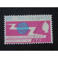 Британская Гайана 1965 г. Королева Елизавета -II.