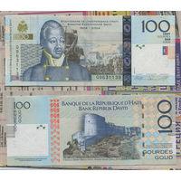 Распродажа коллекции. Гаити. 100 гурдов 2010 года (P-275c - 1999-2016 Issue)