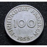 Саар 100 франков 1955