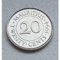 Маврикий 20 центов, 1994 7-1-9