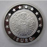 Болгария 10 левов 2000 Ассоциация с ЕС - серебро 23,33 гр. 0,925 - нечастая!