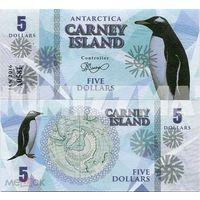 Остров Карней 5 долларов 2016 год  UNC. фентези.  распродажа
