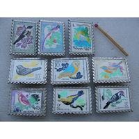 Значки. Птицы (керамическая вставка). цена за 1 шт.