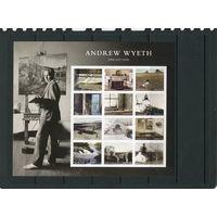 США. Эндрю Уайет, американский художник - реалист. Малый лист