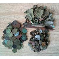 Сборный лот, более 150 монет, пуговицы и другое, с 1 рубля!