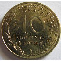 1k Франция 10 сантимов 1979 В КАПСУЛЕ распродажа коллекции