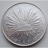 Мексика, 8 реалов, 1890, серебро