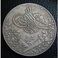 Османская Империя(Египет). 20 куруш 1909 (АН 1327/6) г. Серебро, 28 грамм.